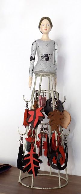 (un)intentional contemporary art in Transylvania: Leather earrings collection