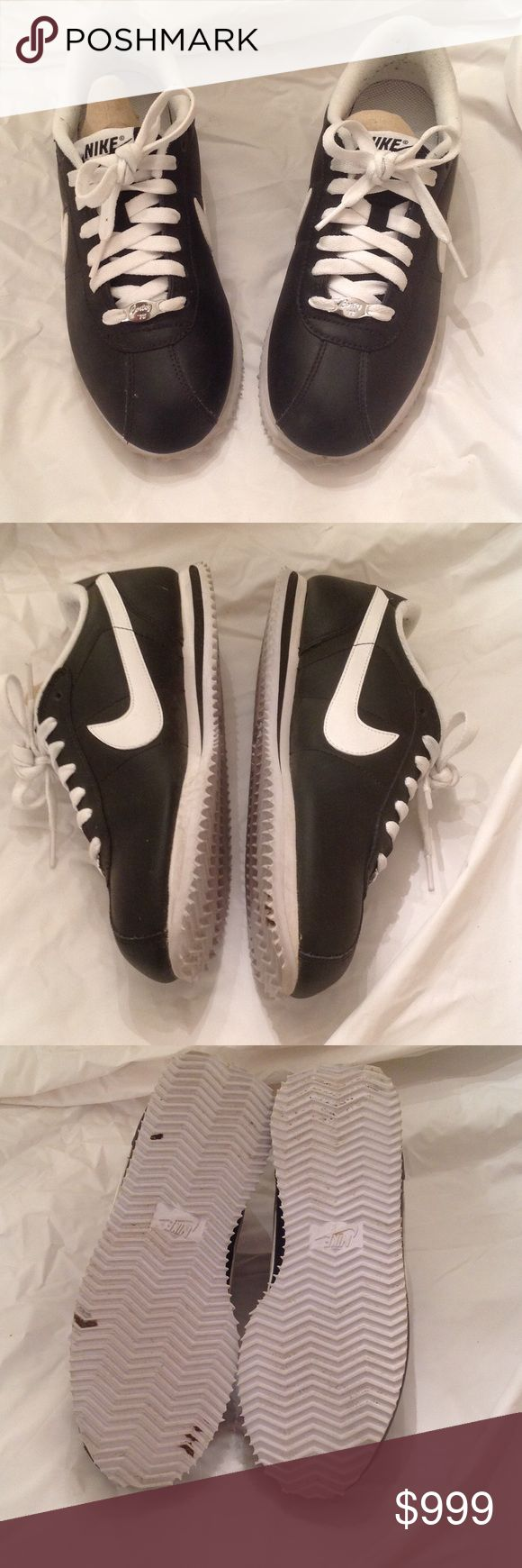 Rare Black Nike Cortez Leather Gently used! Excellent condition. On the inside, slight pilling at the inside ankle. Other than that, great condition! Please see pics and ask questions ♥️♥️ Nike Shoes Athletic Shoes