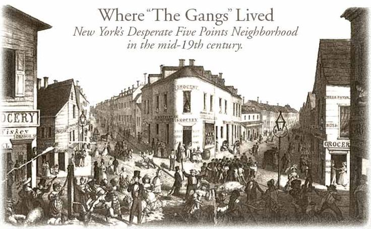 gangs of new york the irish immigrants The book the gangs of new york says there was one tenement where there was a murder a day at the period of time he was writing about, there was barely a murder a month in all of new york city.