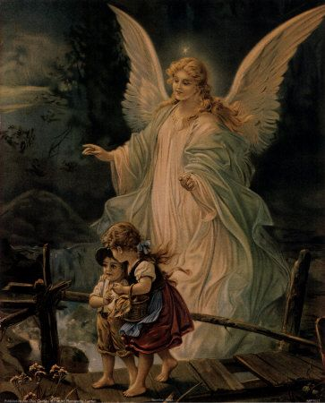 My mom had this picture in our house forever. It holds so many memories. Guardian Angel ~ Heilige Schutzengel