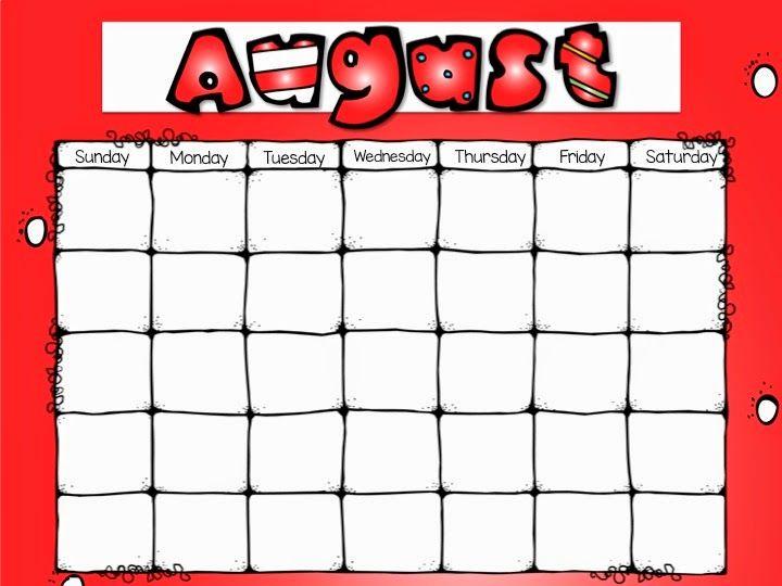 Calendar Ideas For Teachers : Editable monthly calendars kinderland collaborative