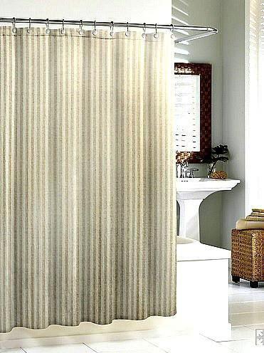 Linen Chevron Shower Curtain | Flax