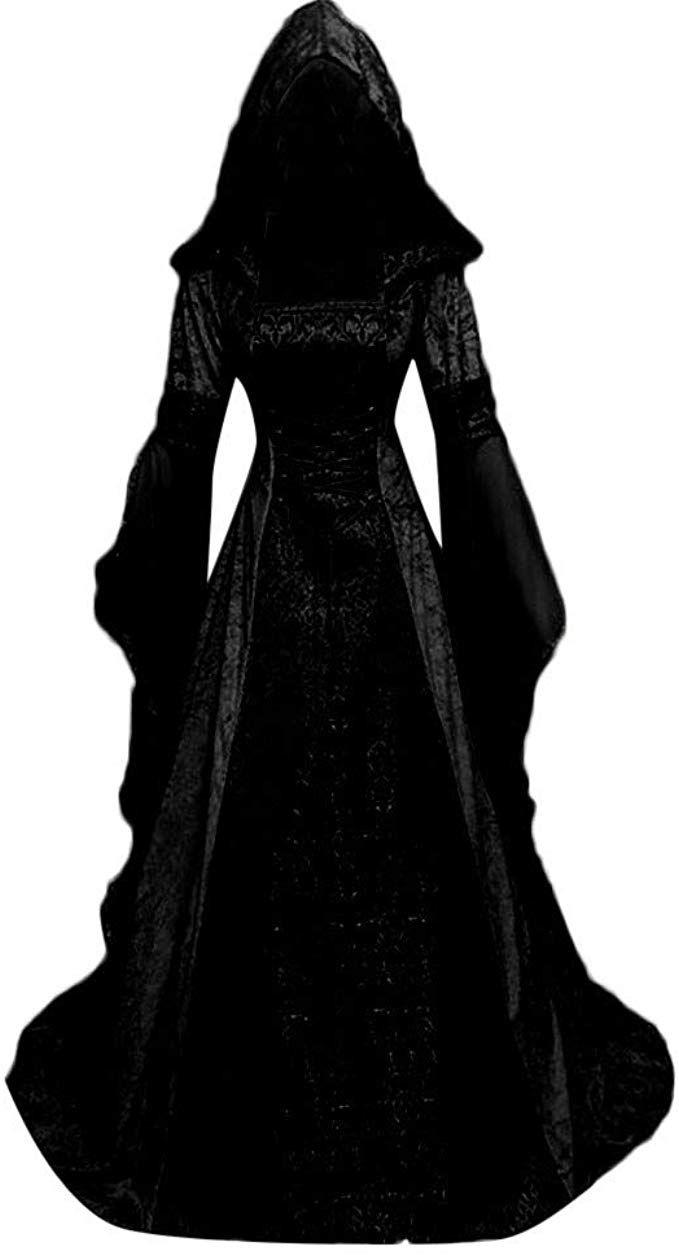 Damen Langarm Mittelalter Kleid Dieses Bodenlange Kleid Ist Ein Echter Blickfang Tolles Outfit Fur Ein Mittelalter Kleidung Kleider Damen Mittelalter Kleid
