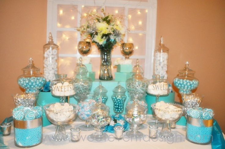 blue candy buffet ideas | Wedding Ideas: Tiffany Blue with a Touch of Bling!
