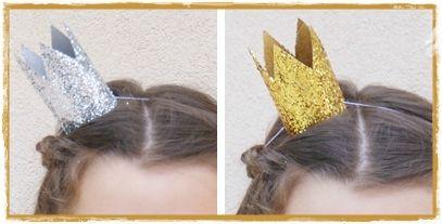 Couronnes pailletées façon bibi et autres couronnes sur le site