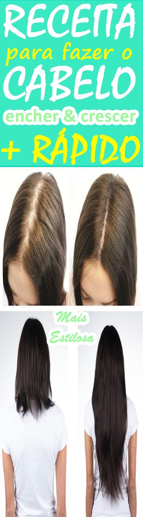 Aprenda como fazer o cabelo encher, dar mais volume e crescer mais rápido. Cansada com a lentidão com que os seus cabelos nascem? Então anote essa receita milagrosa que fará o seu cabelo crescer e encher como nunca!