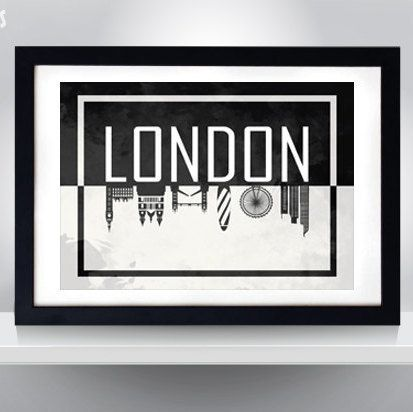 Hey, I found this really awesome Etsy listing at https://www.etsy.com/listing/238806825/london-silhuette-poster-wall-art-print