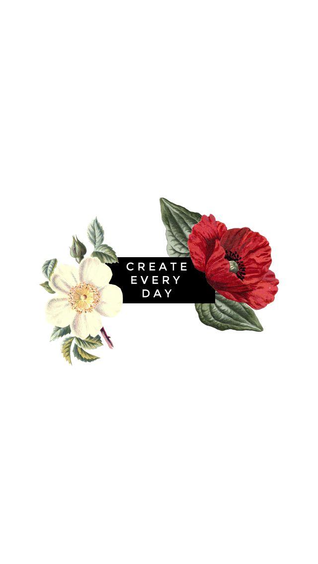 Minimal white red cream Floral Create iphone phone wallpaper background lockscreen