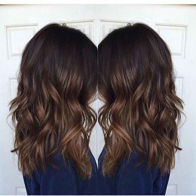 Fall toned brunette. Color by @hairbyhailey_epic #hair #hairenvy #haircolor…