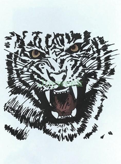 cdc30637b1b5e Waterproof Temporary Tattoo Sticker crow tiger Ganesha wolf forest ...