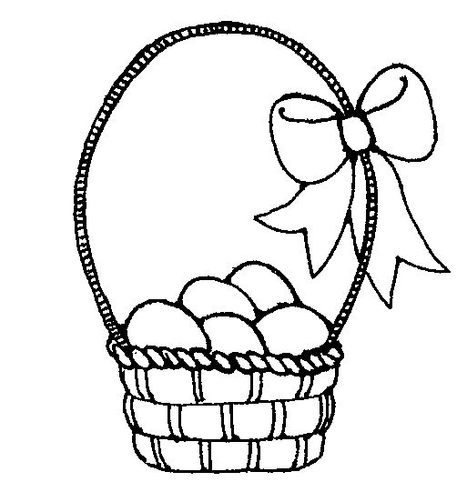 Easter Basket Clipart Black And White Images | Easter Day ...