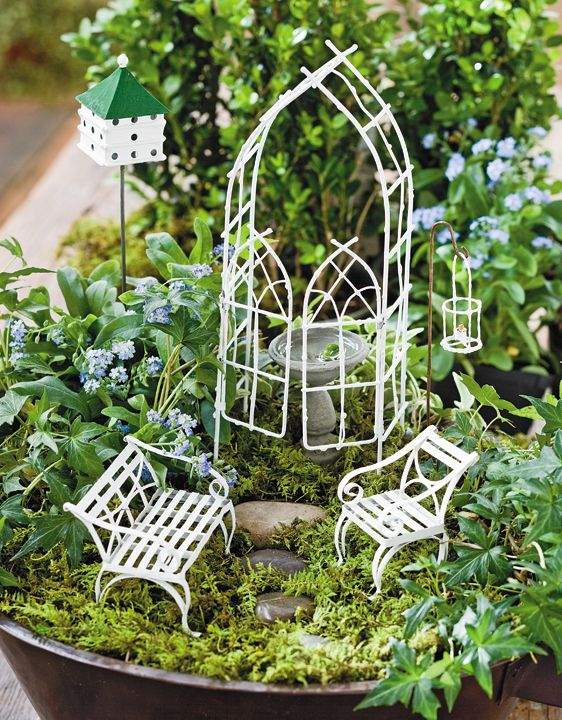 Willow Miniature Garden Kit Includes Arbor