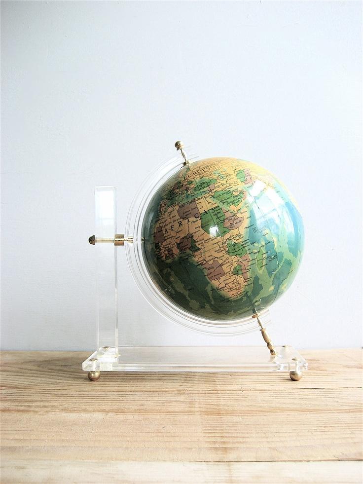 Vintage Globe on Lucite Stand 227 best