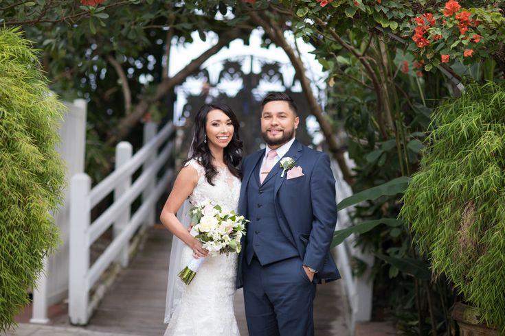 The Palms Hotel // Heather Funk Photography // Miami Beach // gazebo wedding // beach wedding // bridal gown // romantic wedding // wedding couple // boutonniere // wedding veil
