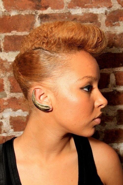 Curlsunderstood.com: Pin up Updo natural hair color
