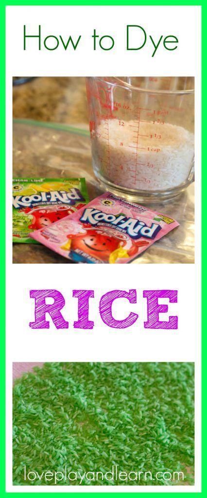 How to Dye Rice for Sensory Bins Sensory Jars