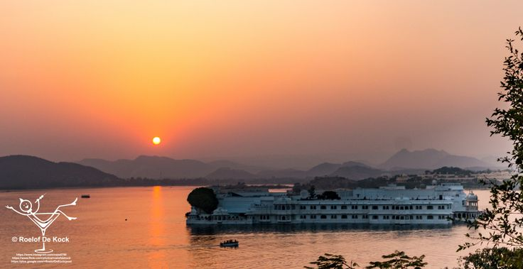 """Udaipur, India...Lake Palace made famous by the James Bond movie """"Octopussy"""" #vaas8790 #incredibleindia #rajasthan #sunset #india #udaipur #travelphotography #travel"""