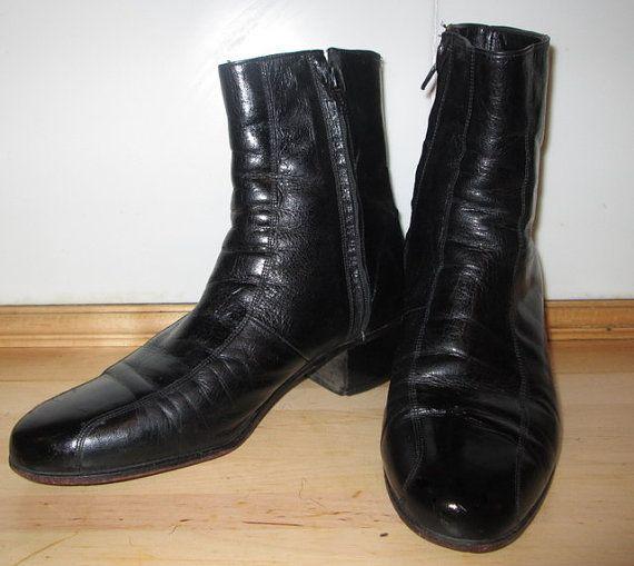 I NEED THESE INEEDTHESEINEEDTHESEINEEDTHESEINEEEEEDDDDTHEEEEESSSSSSEEEENOWWWWWWWWW!!!!!!!!!!! Florsheim Boots. Black Leather Boots. Biker by MISSVINTAGE5000