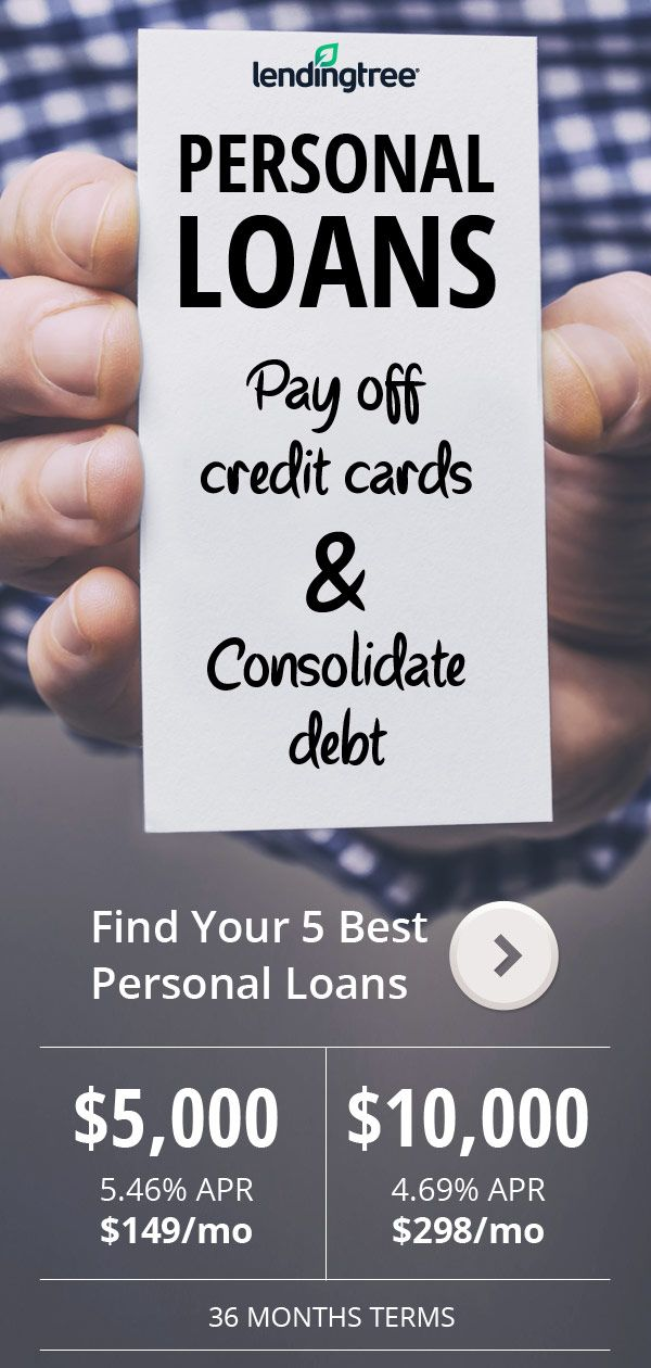 Personal Loan rates at 546 APR Pay off credit cards, consolidate