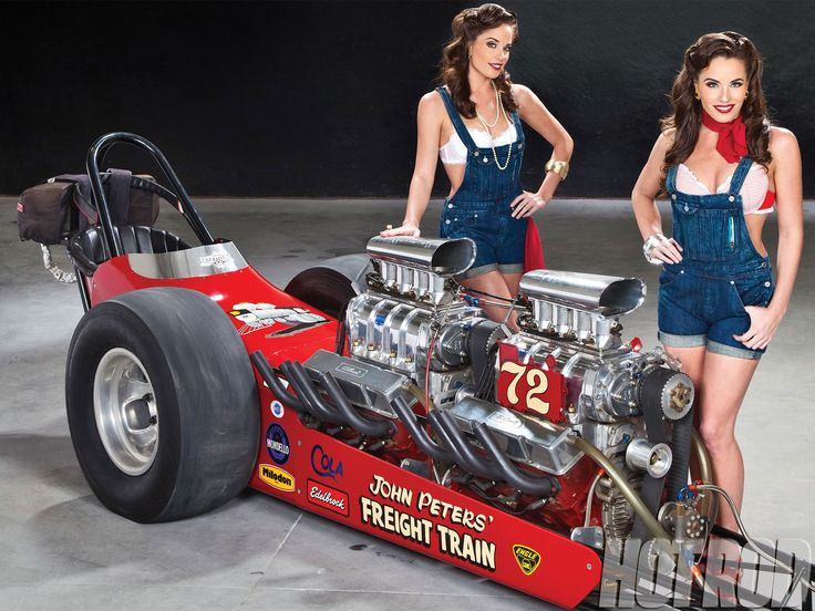 Hrxp 1203 John Peters Twin Engine Freight Train Top Gas Dragster Lead Photo 1