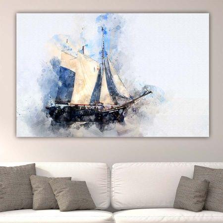 Sailboat πίνακας σε καμβά