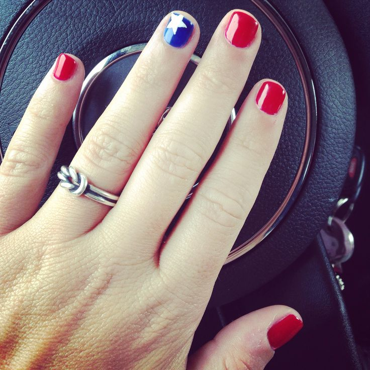 My awesome 4th of July nails ❤️