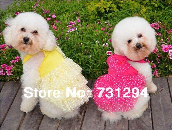 Одежда для животных одежда для собак собака юбка pet платье товары для животных весна и лето vip бишон тюль платье слоеного юбка принцесса платье