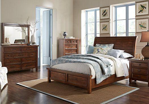 picture of Mango Caramel Brown 5 Pc Queen Panel Bedroom  from Queen Bedroom Sets Furniture