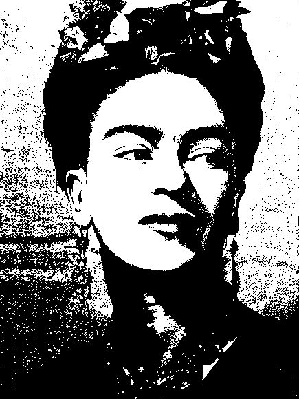frida ,From Rapid Resizer's free picture stencil maker. Try it now at http://RapidResizer.com/photo-to-pattern