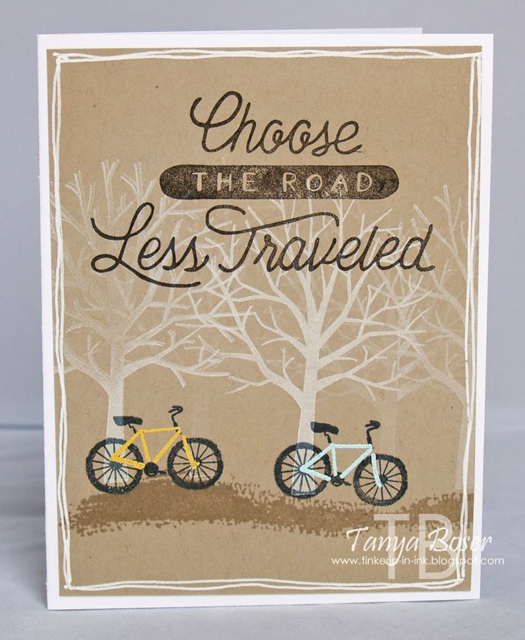 We love this card made with the Sheltering Tree and Adventure Awaits stamp sets!