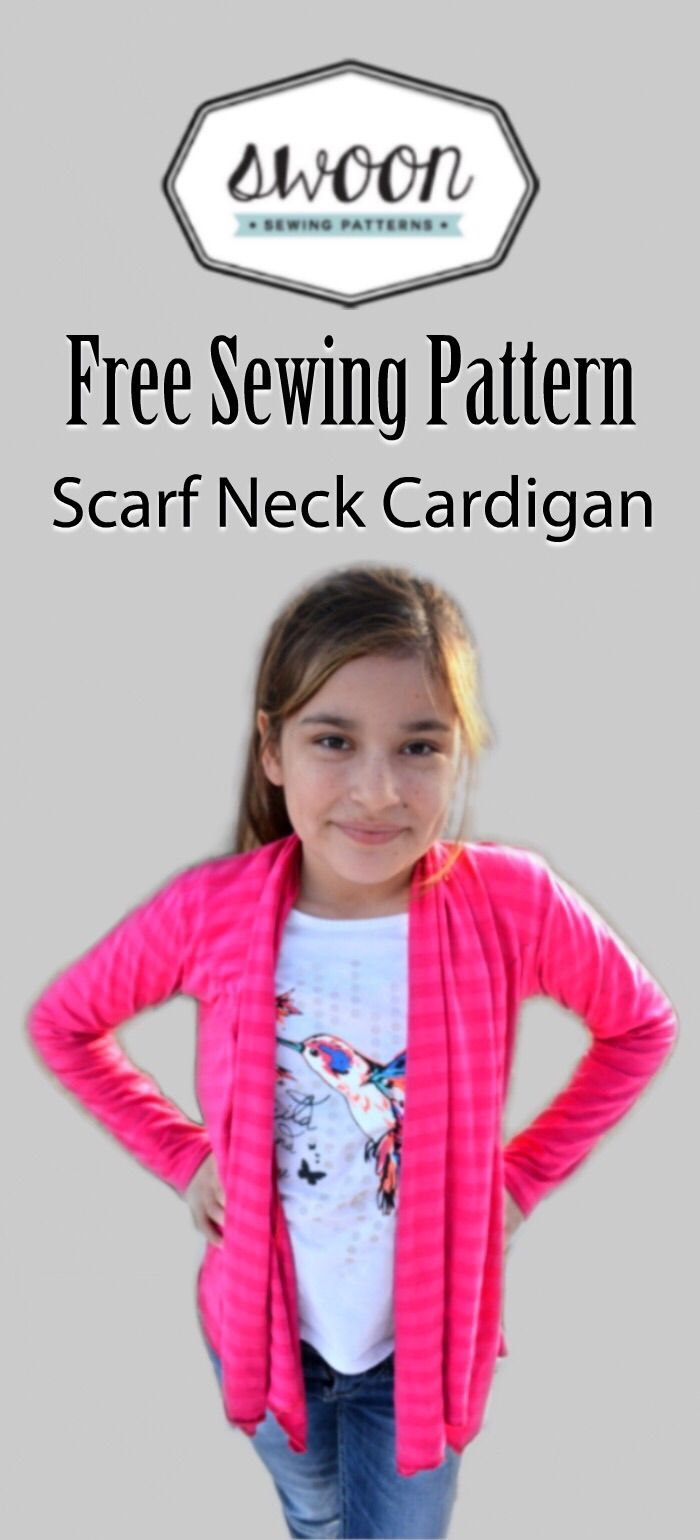 Free Sewing Pattern: Scarf Neck Cardigan from Swoon