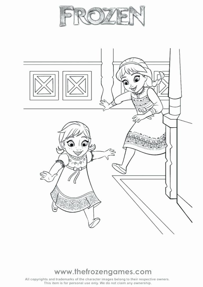 Baby Frozen Coloring Pages Amazing Design