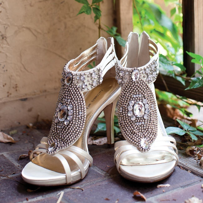 Ivory Bridal Shoes With Rhinestone And Beadwork Detailing Photo By Photo