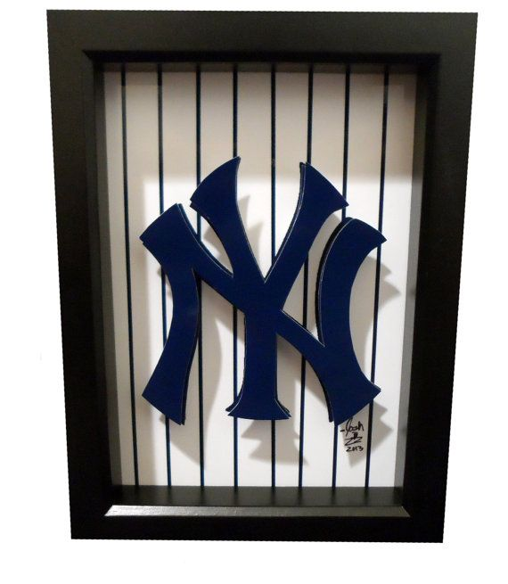 New York Yankees Logo 3D Pop Art NY Baseball Print by PopsicArt, $25.00