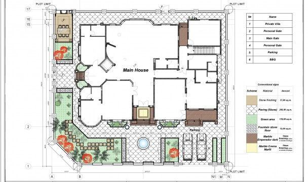 Villa Floor Plan In Dubai Floor Plans Luxury House Plans House Plans