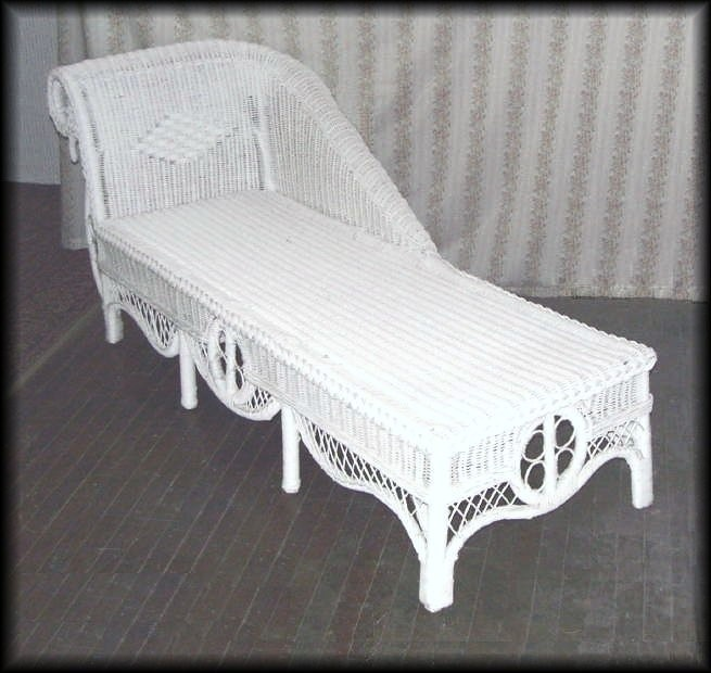 Ralph Lauren Wicker Chaise Lounge Outdoor Wicker