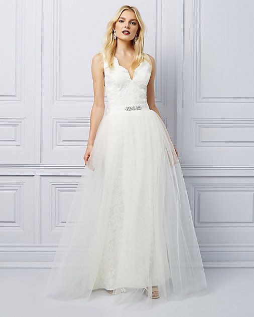 e17c704f0169 Lace Gown with Detachable Tulle Skirt | THE WEDDING BOUTIQUE ...