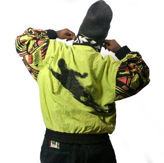 Vaporwave / ski Jacke / 90er Jahre ski Jacke / von wickedvillage