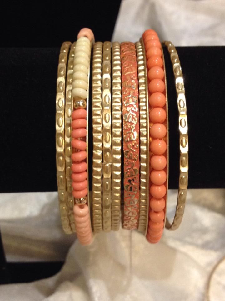 Crush bracelets--skinny bangles are HOT for Spring/Summer 2014!  These are a MUST HAVE!