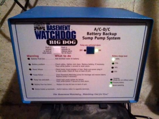 Basement Watchdog Big Dog Computer-Controlled AC/DC Battery Backup Sump Pump System BWD12-120C at The Home Depot - Mobile