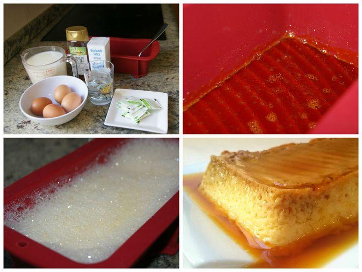 Anna recetas fáciles: Flan de huevo casero light al microondas (desnatado y sin azúcar)
