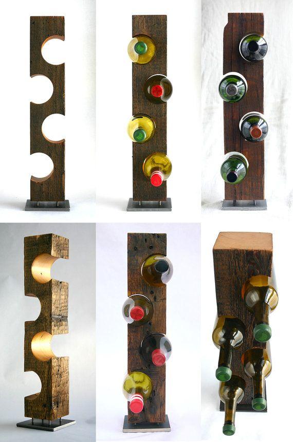 Moderne permanent porte-bouteilles Barnwood par KettlerWoodworks
