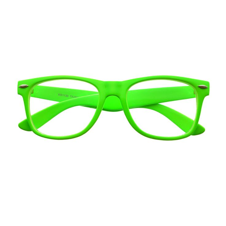 Bright Green Glasses Frames : #colorful #party #summer #clearlens #retro #vintage # ...