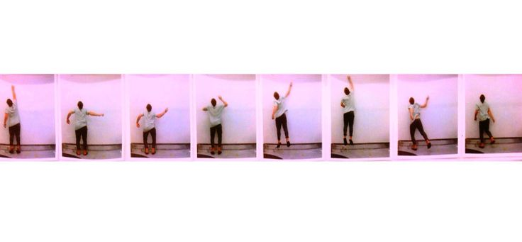 A sequence of a jump, captured at different important intervals in the jumping process to show the body movement each person goes through