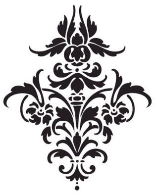 This is a perfect damask motif in stencil format! Love it! I made it into a vector! Go here to download it vector in Illustrator .ai format or .svg format! I uploaded it to this filesharing site. L...