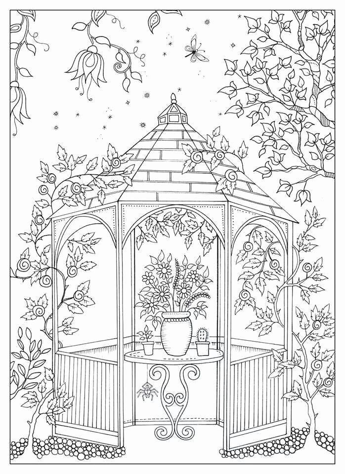 Secret Garden Adult Coloring Book Elegant Secret Garden By Johanna Basford Coloring In 2020 Garden Coloring Pages Coloring Pages Adult Coloring Pages