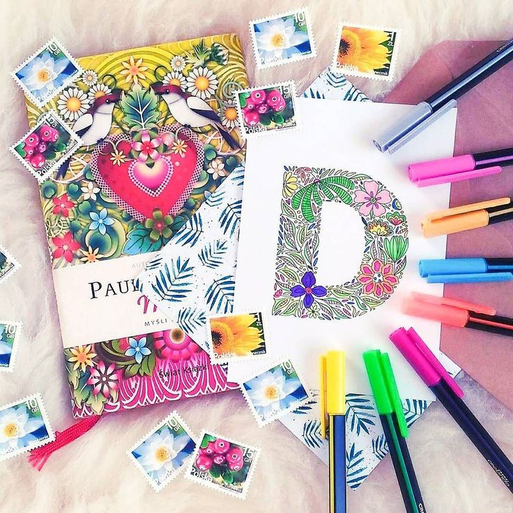 Just look at this stunning coloring by @papercraft_danka!  Did you know I created a postcard set with all the letters of the alphabet?  I'll be listing each single letter later this week make sure to bookmark the link in my bio  I can also make a custom poster or a card with your name or favorite quote! Get in touch if you're looking for something made just for you   #coloring #coloringmasterpiece #stationeryaddict #planneraddict #filofaxing #postcrossing #bookstagram #bookishly…