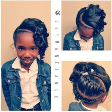 Pretty Hairstyles For N American : Best 25 braids and curls ideas on pinterest cute curly