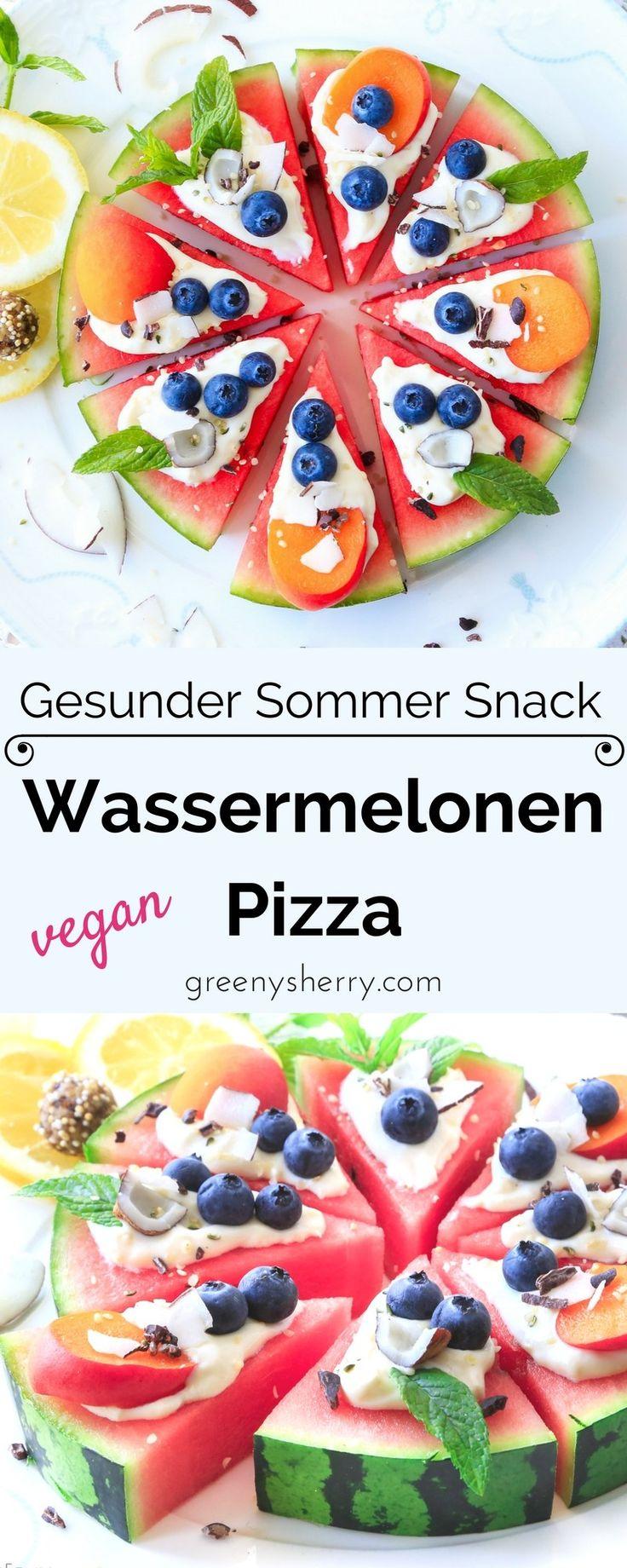 Wassermelonen Pizza – Gesunder Sommer Snack
