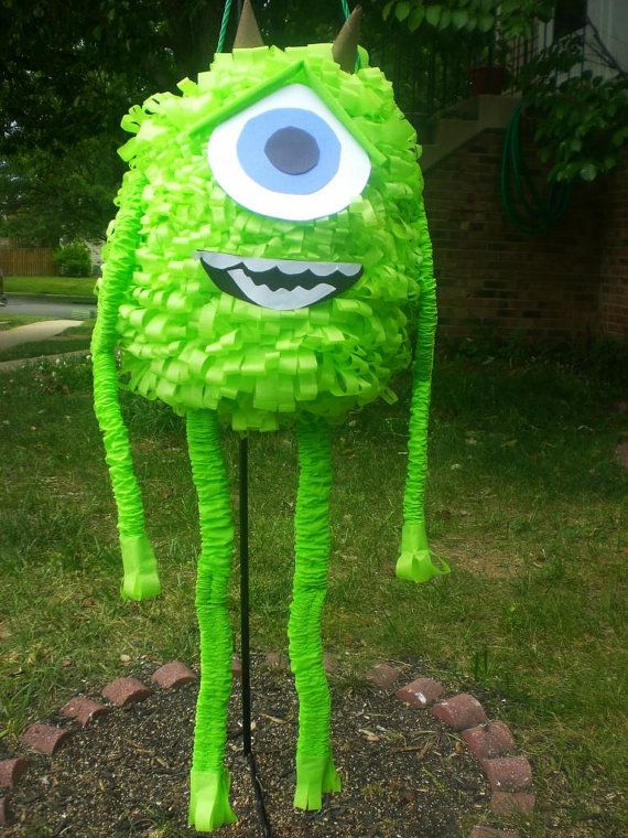 inspired mike pi u00f1ata party  invitation  monsters inc pi u00f1ata birthday decoration traditional hit